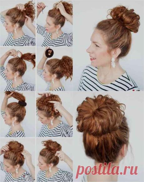 Бублик на короткие, средние и длинные волосы: 10 красивых примеров