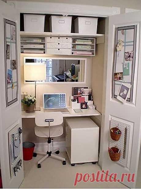 Домашний офис на 1 квадратном метре. Дизайн своими руками