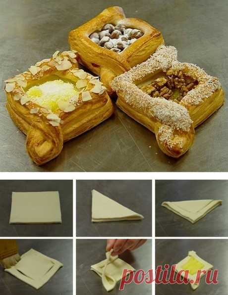 Простые и вкусные шедевры из слоеного теста (часть 1) - Кулинарный портал - Рецепты с фото, Рецепты тортов, Кулинарные рецепты