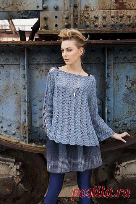 Пуловеры и джемпера павлиньим узором для женщин спицами – 5 схем вязания с описанием