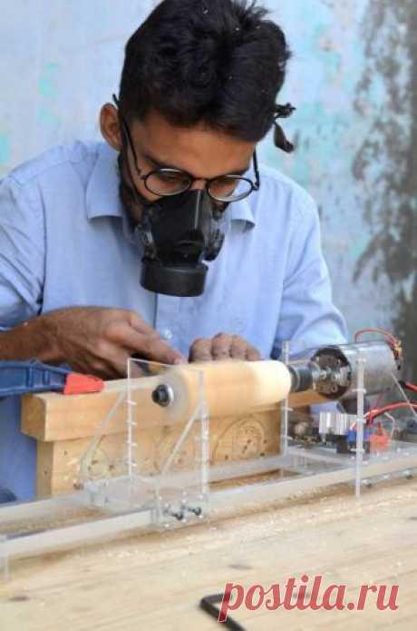 Прозрачный миниатюрный токарный станок своими руками — ОчУмелые ручки