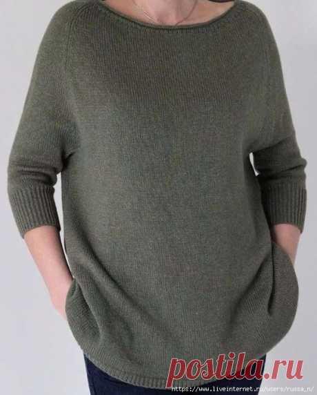 КАК СВЯЗАТЬ ХЕЙВОРД Если вы еще не связали себе стильную вещь для весны - самое время это сделать. Особенность этого пуловера - заниженная линия проймы и широкий низ. Этот пуловер смотрится прекрасно на разных типах фигур. Вам понадобится Пряжа - 500 г Спицы - 3-4 мм Маркеры для отметки количества петель Инструкция 1 И