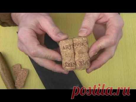 Как изготовить рукоять из пробки