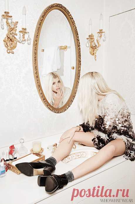 Sophia Richie en el material Who What Wear