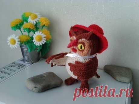 "Сова из ""Винни Пух"", ч.3. Owl from the ""Winnie the Pooh"", р.3. Amigurumi. Crochet.  Амигуруми."