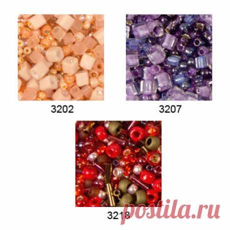 """Бисер """"MIX 5"""", 25 г (цвет: 3207, фиолетовый)  """