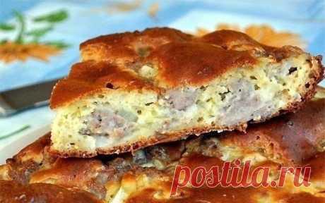 Готовим простой наливной пирог с мясом | Делимся советами