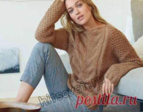 Пуловер с каракулевым узором - Хитсовет