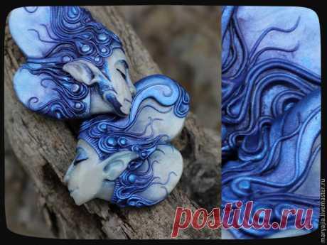 Лепим оригинальный кулон «Синий Ветер» из полимерной глины - Ярмарка Мастеров - ручная работа, handmade