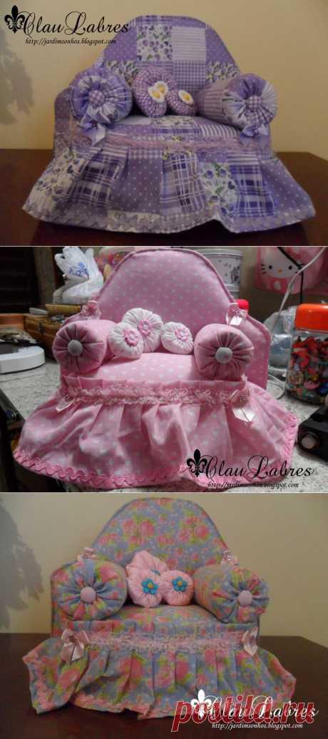 Кресло для кукол своими руками - Мастер класс с пошаговым фото.