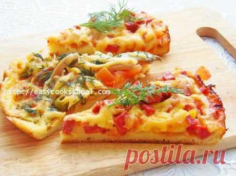 Пицца на сковороде за 10 минут: пошаговый рецепт   Легкие рецепты