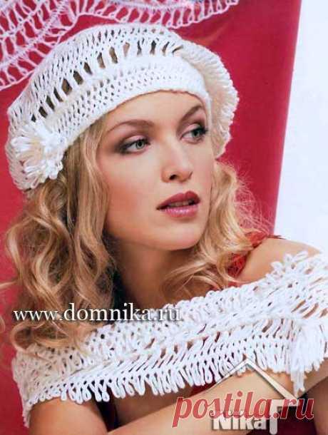 Летние вязаные береты для женщин - 5 шапок и беретов спицами и крючком