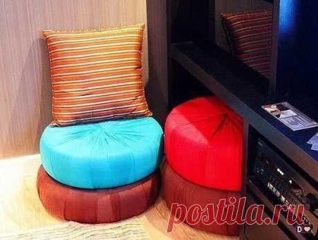 Мебель для дачи из резиновых шин