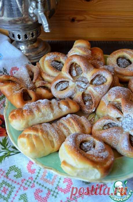 Ванильные булочки с повидлом – кулинарный рецепт