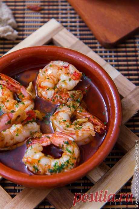 Жареные креветки с чесноком | Кулинарные заметки Алексея Онегина