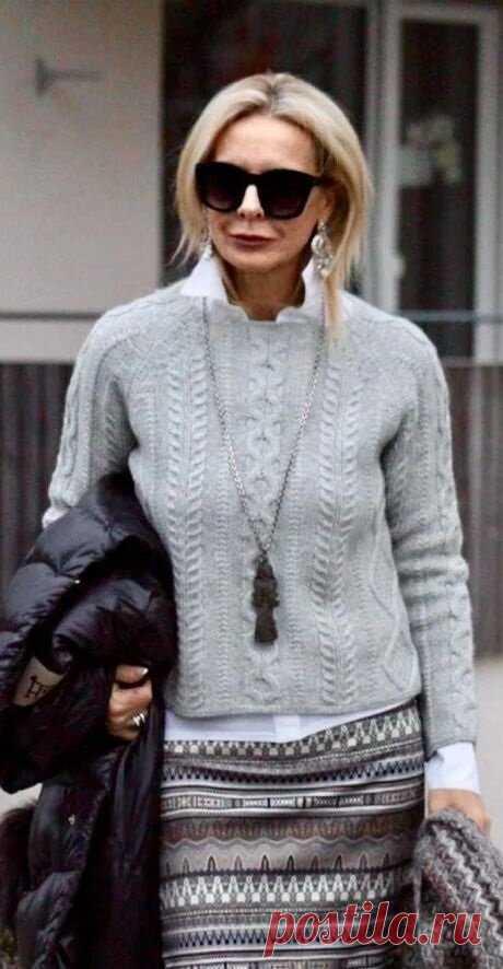 Как после 50 выглядеть элегантной дамой, а не молодящейся старушкой. Примеры стильных образов на осень, которые мне нравятся | Канал про милых дам | Яндекс Дзен