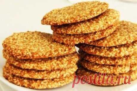 Кунжутное печенье домашней выпечки
