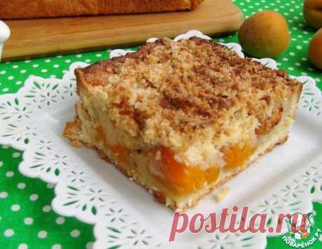 Кокосовый пирог с абрикосами и штрейзелем – кулинарный рецепт