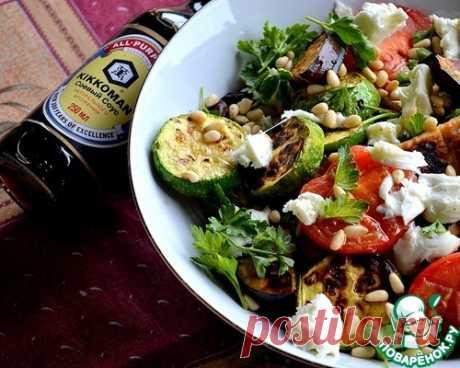 Средиземноморский теплый салат из овощей-гриль – кулинарный рецепт