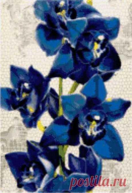 """Предпросмотр - Схема вышивки «Подушка """"Орхидея""""-2» - Автор «Lynna-yna» - Авторы - Вышивка крестом"""