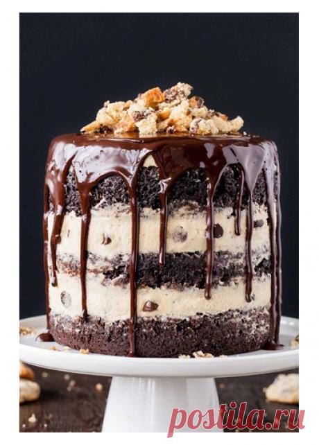 Шоколадно-песочный торт