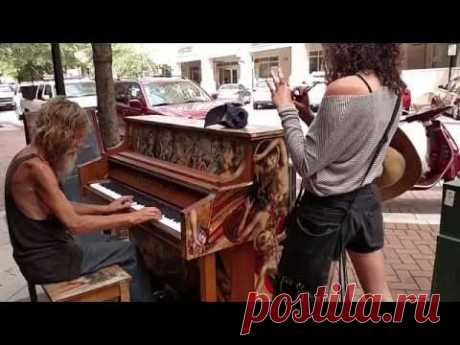 The homeless approached a piano … and magic began!