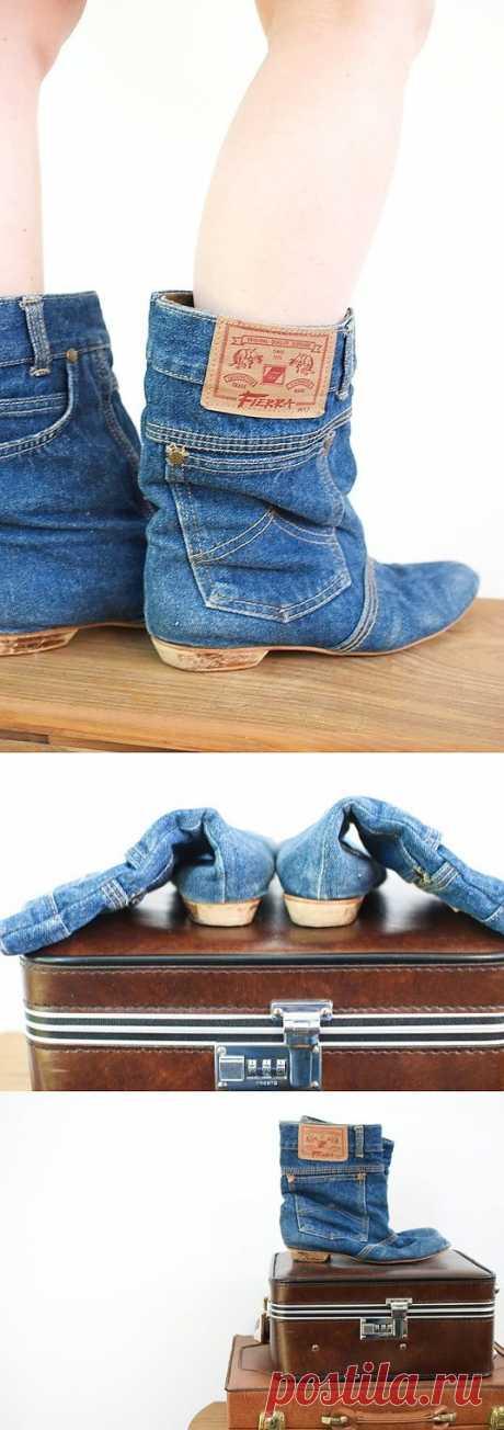 Ботики из джинсиков / Обувь / Модный сайт о стильной переделке одежды и интерьера