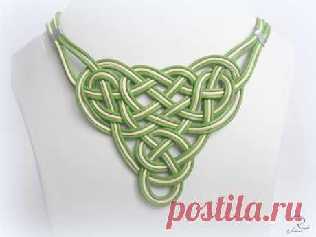 Leather necklace with boho style Celtic knot Irish knot | Etsy