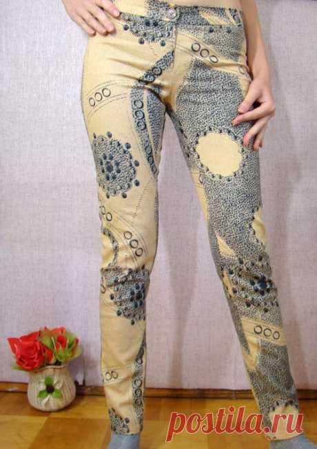 Самый быстрый способ раскроить модные брюки без выкройки