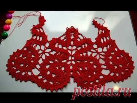 Кокетка брюгге часть 3 (Bruges Crochet Pattern Part 3 of 3)