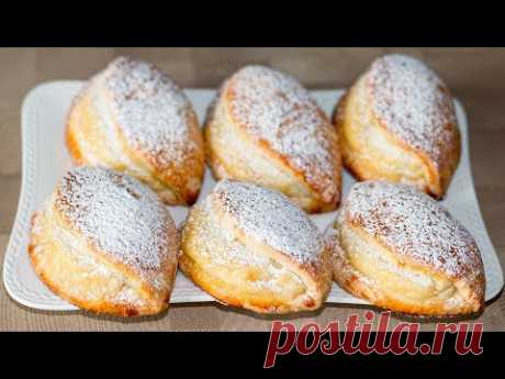 Sochni (sochnik) with cottage cheese. Fancy fresh pastry | Cookies with Curd Filling - Unleavened dough