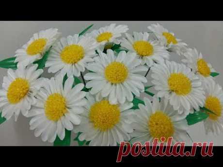 ดอกไม้จากหลอด ดอกเดซี่จากหลอด by มายมิ้นท์ Daisy Flower From Drinking Straws