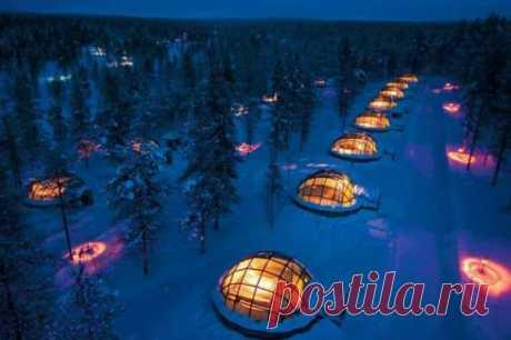 Гостиница в Лапландии со стеклянными иглу (20 фото) . Тут забавно !!!