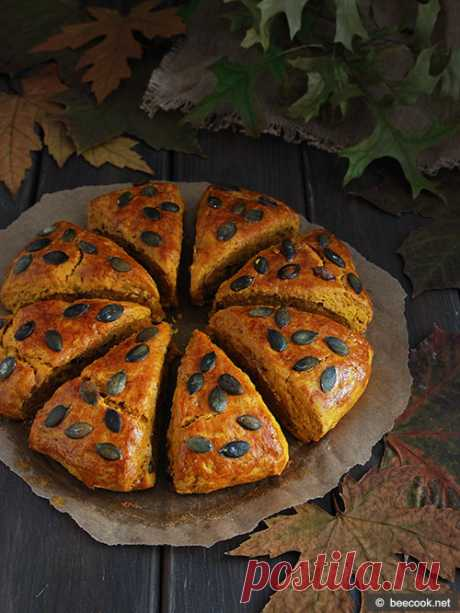 Тыквенные сконы | beecook.net Простой пошаговый рецепт приготовления вкусных тыквенных сконов.