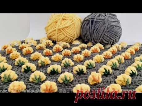 #ÖRGÜDE ALTIN ÇİLEK DEVRİNİ  BAŞLATIYORUM 🤩🤩#crochet #örgü#battaniye#blanket#keşfet