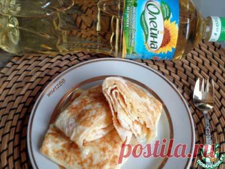 Яичные блинчики с сыром Кулинарный рецепт