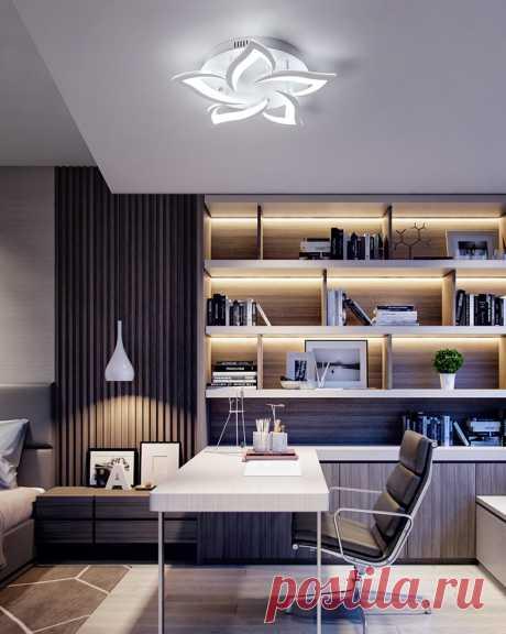Потолочная люстра, светодиодная для гостиной, спальни|Потолочные лампы| | АлиЭкспресс