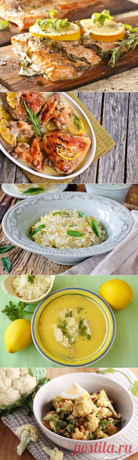 9 весенних блюд с лимоном