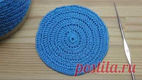 Урок вязания крючком КРУГА столбиками с накидом Крючок для начинающих Lesson crochet circle