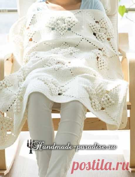 Beautiful pattern for knitting of a pillow and a plaid