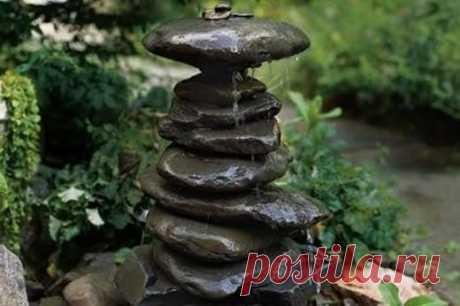 Как сделать миниатюрный фонтанчик из камней — Сделай сам