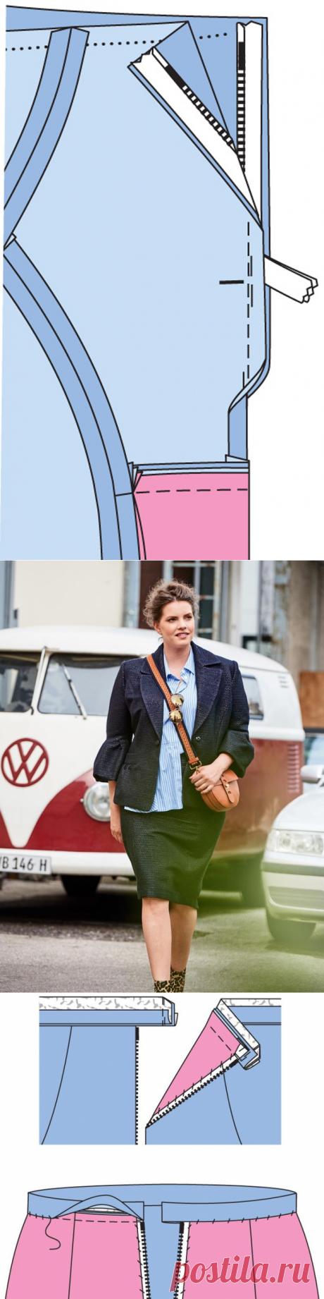 Как сшить юбку с драпирующейся деталью «годе»