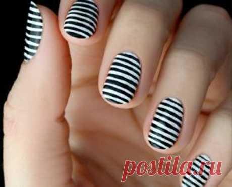 Полоски на ногтях: модный дизайн с фото/видео - krauzer.ru