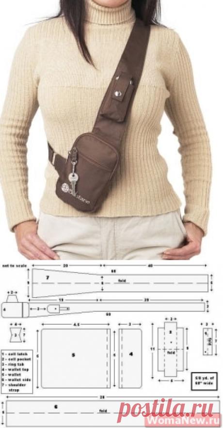 Выкройка сумки через плечо | WomaNew.ru - уроки кройки и шитья