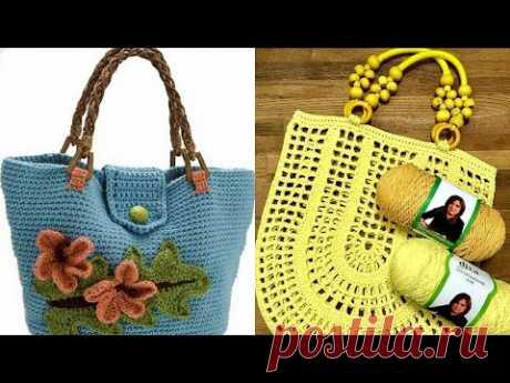 Yazlık el örgüsü bayan çanta modelleri