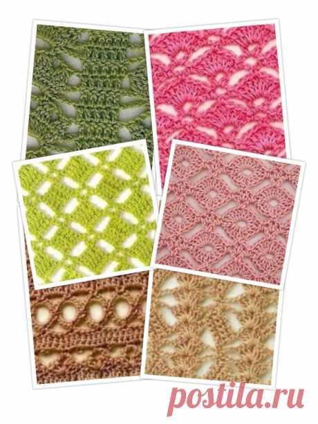 Топ-10 интересных и несложных узоров крючком со схемами для летнего вязания! (Вязание крючком) – Журнал Вдохновение Рукодельницы