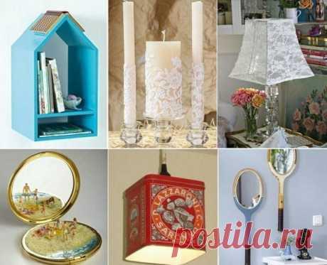 «Набор» интерьерных идей как просто, полезно, красиво переработать домашний «скарб»!
