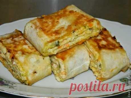 Как приготовить хрустящая закуска в лаваше - рецепт, ингредиенты и фотографии