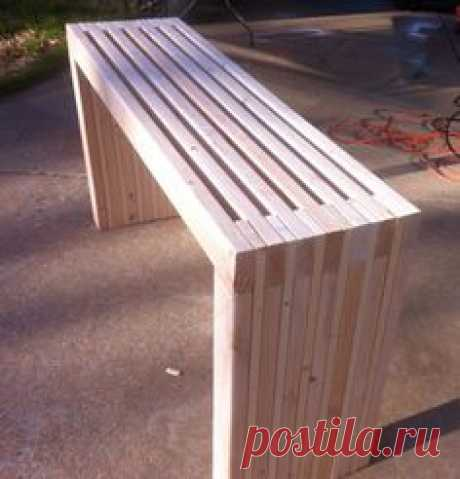 DIY Project: Make Your Own Slatted Console Table Ana White
