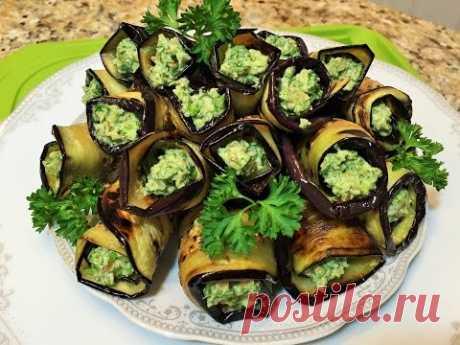 БАКЛАЖАНЫ. РУЛЕТИКИ ИЗ БАКЛАЖАНОВ жареные.(Rolls of Eggplant) - YouTube